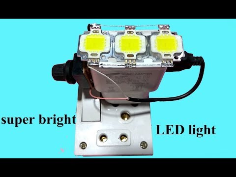 Haw to make super bright LED light use old usb mobile charger