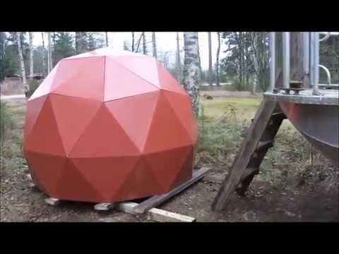 Making of Geodesic Dome - Geodeettisen kupolin valmistus DIY