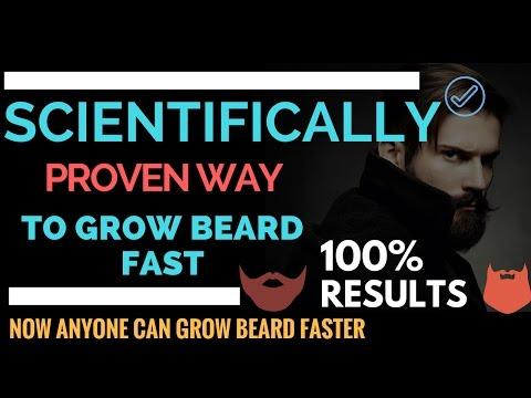 How to grow Beard Faster Naturally | Scientifically Proven 100%| Grow THICKER Facial Hair |#FactGram
