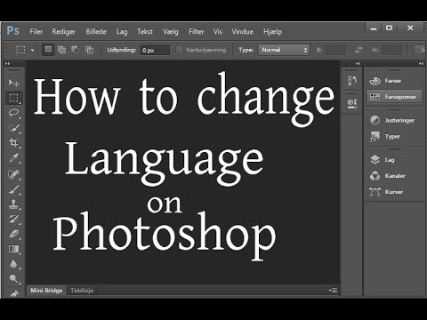 how to change language on photoshop portable extended