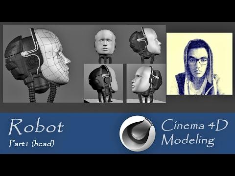 Cinema 4D - Robot modeling - Part1 (Head)