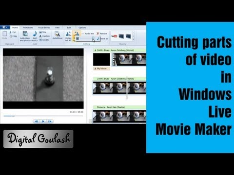 Windows Movie Maker Made Easy - Cutting parts out of your video