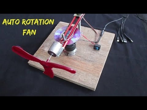 How to make a Revolving Table Fan Easily at home – DIY Project