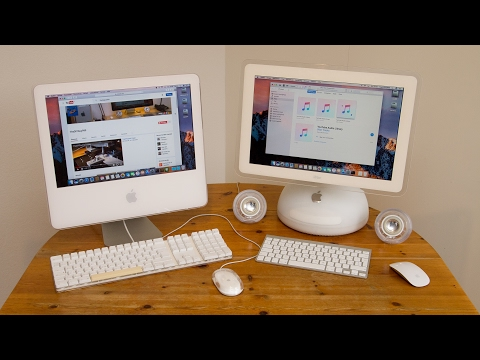 iMac G4 and G5 Hackintoshs running macOS Sierra