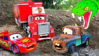 Disney Cars Toys McQueen Cars 3 Cobra Chase Tractor Tipping Mack Tomica Car Toys for Kids Full Movie