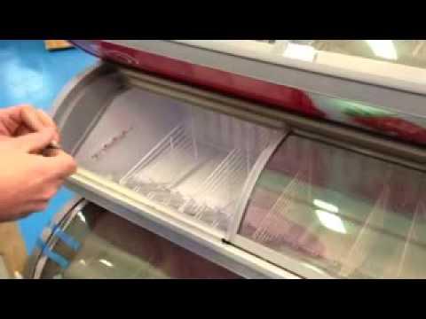 Putting locks onto a Maxivision ice cream freezer