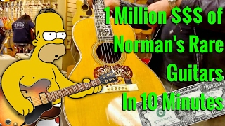 See over 1 MILLION Dollars of Norman's Rare Guitars in 10 minutes with Mark Agnesi - GIBSON