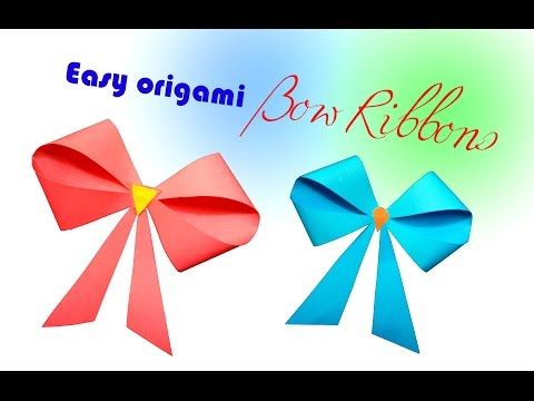 How to make a paper Bow/Ribbon | DIY-Paper Crafts