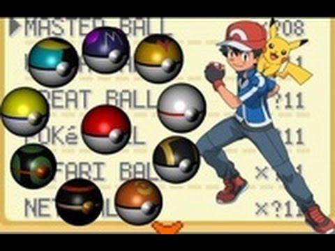 Pokemon Fire Red All Pokeballs Cheat with Gameshark Code