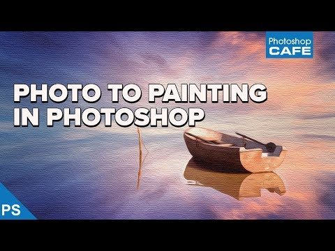 How to turn a photo into an OIL PAINTING  in PHOTOSHOP
