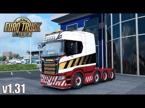 ✅ ETS2 Open Beta 1.31- Mighty Griffin DLC | 8x4 Chassis Scania R/S | Power/air lines | Random Events
