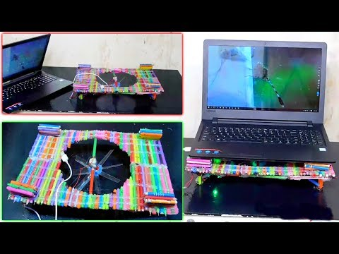 Diy laptop cooling pad | Homemade laptop cooler pad by using wasted pen |  Stupid Engineer