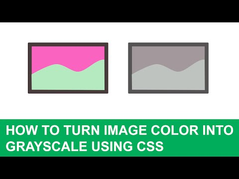 How to turn image color into grayscale using css