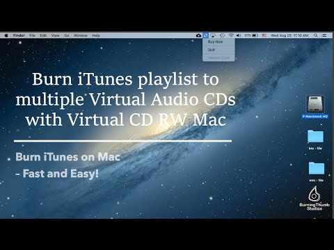 Virtual CD RW: Burn iTunes playlist to multiple Virtual Audio CDs