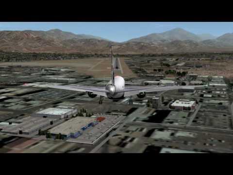 Boeing 777 Landing at KSBD Intl