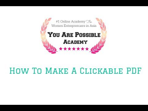 how to make a clickable pdf
