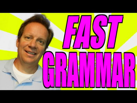Learn ALL English Grammar in 4 Minutes!