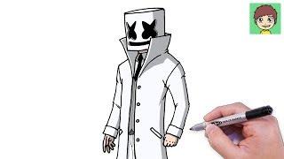 Como Desenhar O Marshmello Cavalheiro Passo A Passo Facil