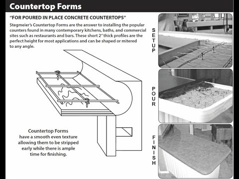 Stegmeier Pour In Place Concrete Counter Top Forms