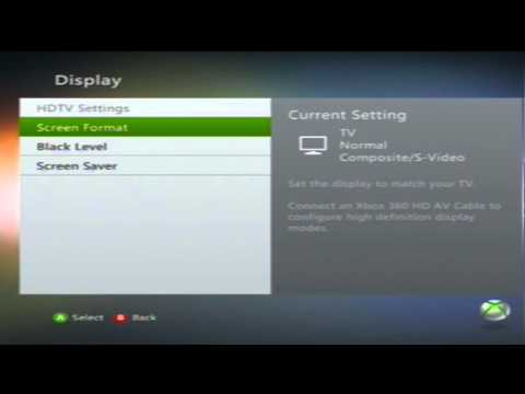 How to change your Xbox 360 screen settings