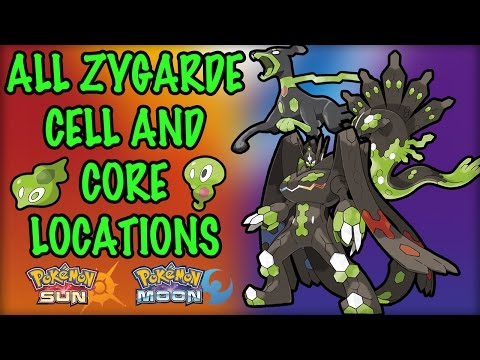 All Zygarde Cell and Core Locations - Pokemon Sun and Moon (100% Guide)