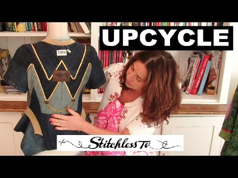 How-to make designer jacket from jeans