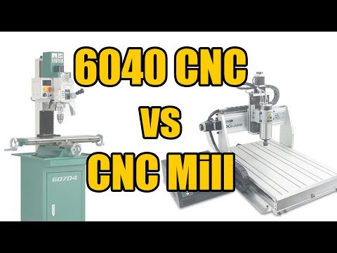 6040 CNC Router vs CNC Mill:  A Quick Comparison