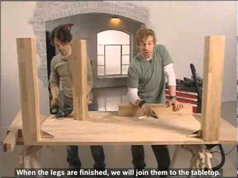 How To: Build a classic oak dining table