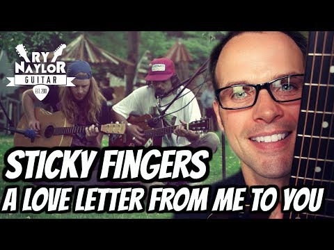 A Love Letter From Me To You Guitar Lesson (Sticky Fingers) Guitar Tutorial with TAB