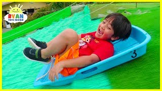 Download Worlds Biggest Giant Slides!!! | Kids Family Fun Trip to the Farm with Animals!!! Video