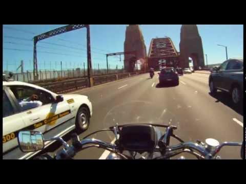 Sydney Harbour Bridge Crossing on a Motorbike