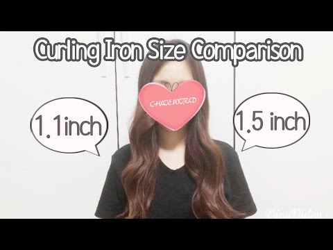 Curling Iron Size Comparison 1 1/10 inch VS 1 1/2 inch, How to curl your hair,Auto Spin Curling Iron