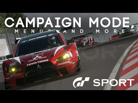 GRAN TURISMO SPORT - CAMPAIGN MODE, MENUS AND MORE (GT Sport News)