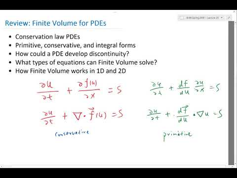 Review   Finite Volume for PDEs
