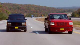 '90 Chevy 454 SS vs '94 Ford Lightning F150 MuscleTrux Wars Part 1 - Trucks! S10, E1
