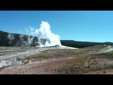 Old Faithful - July 24, 2014, 10:27 AM Yellowstone National Park