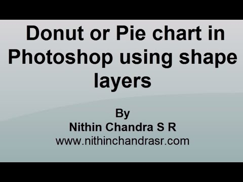 Create Donut or pie chart in photoshop | Web and Graphic design