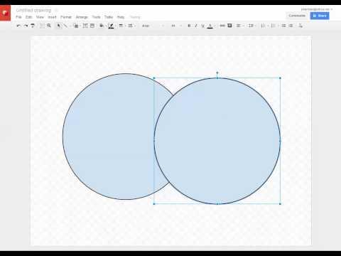 Google Drawings - Making Transparent Shapes