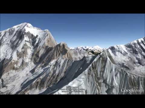 Annapurna Massif Fly-Over Tour - Google Earth