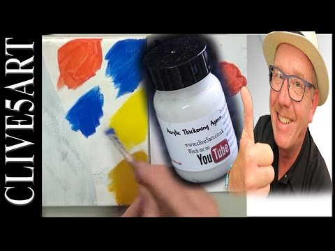 Thickening Gel, Acrylic painting for beginners,