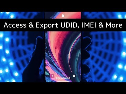 How to Access and Export iPhone UDID, IMEI, Serial and More?
