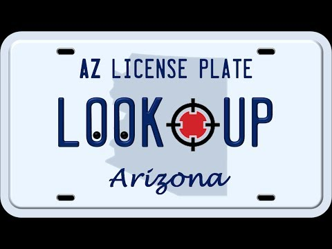 How to Reverse an Arizona License Plate