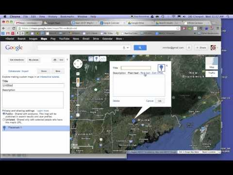 How to add a picture to a Google Map
