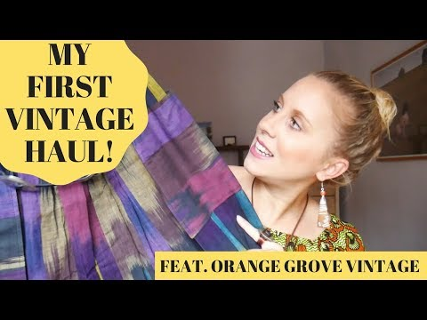 My First Vintage Clothing Haul!! Vintage Style + Try-On from Orange Grove Vintage