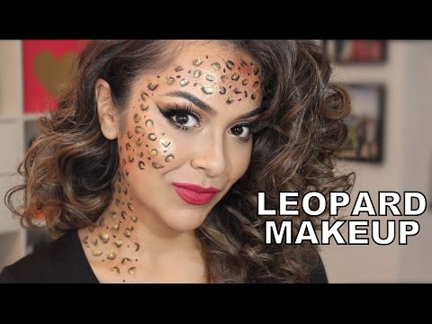 Easy Last Minute Halloween Look - Leopard Makeup - TrinaDuhra