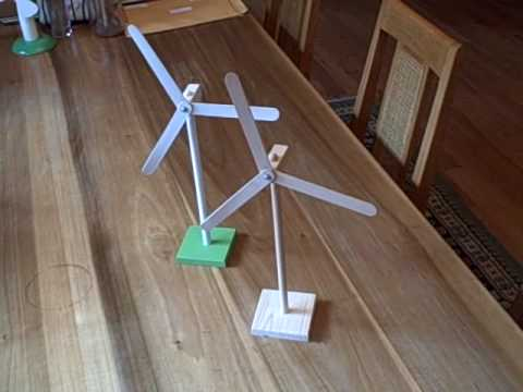 Two Toy Windmills