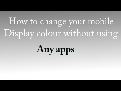 how to change android display color into negative without any app