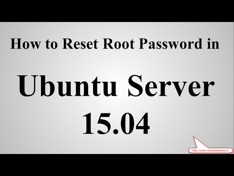 How to Reset Root/Hostname Password in Ubuntu Server 15.04 (Vivid Vervet)