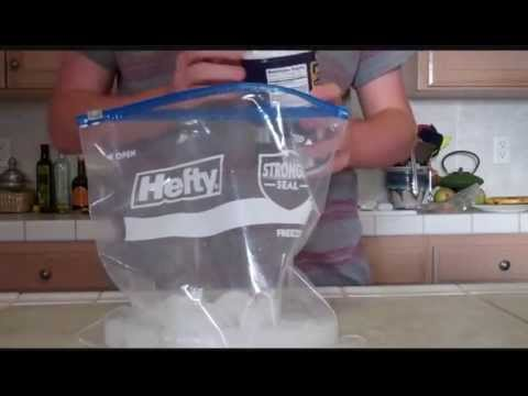 How to make ice cream from a plastic bag! 200 sub special