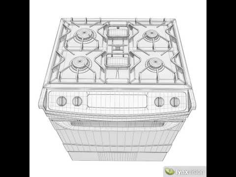 General Electric Gas Range Cooker 3D model from CGTrader.com